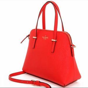 Kate Spade Red Cedar Street Maise Leather Satchel